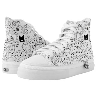 Monogram Series: Kawaii Cute Kitty Cats Neko Gato. High Tops