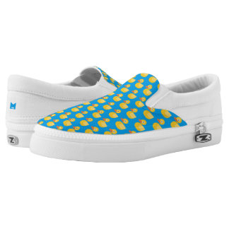 Monogram Series: Kawaii Cute Rubber Ducky. Slip-On Shoes