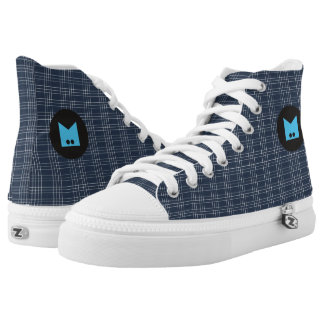 Monogram Series: Lines Pattern. High Tops