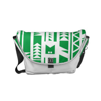 Monogram Series: Modern Geometric Tribal Pattern. Commuter Bag
