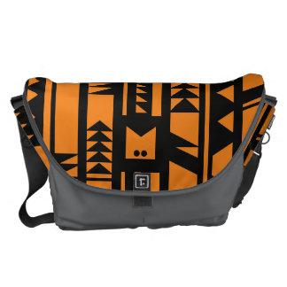 Monogram Series: Modern Geometric Tribal Pattern. Commuter Bags