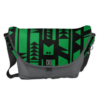 Monogram Series: Modern Geometric Tribal Pattern. Courier Bags