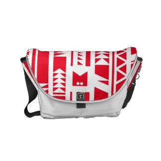 Monogram Series: Modern Geometric Tribal Pattern. Messenger Bags