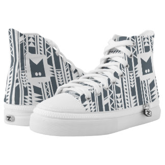 Monogram Series: Modern Tribal. Geometric. Printed Shoes