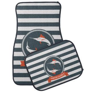 Monogram Series: Nautical. Sword Fish. Car Mat