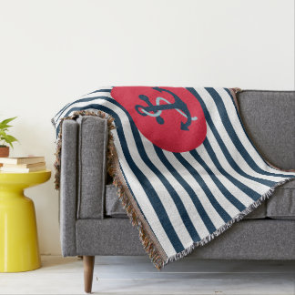 Monogram Series: Nautical Theme. Throw Blanket