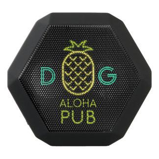 Monogram Series: Pineapple. Aloha Club. Neon Light Black Bluetooth Speaker