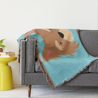 Monogram Series: Pups Rule! Cute Puppy Dog. Throw Blanket
