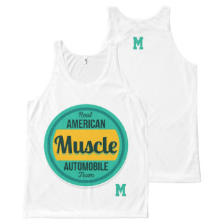 Monogram Series: Real American Muscle. All-Over Print Tank Top