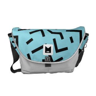 Monogram Series: Retro Eighties Geometric Courier Bag