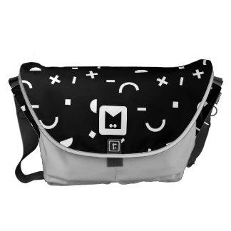 Monogram Series: Retro Eighties Random Shapes Messenger Bags