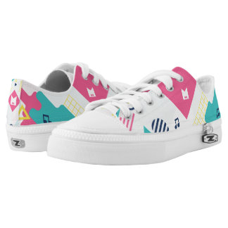 Monogram Series: Retro Musical Notes. Printed Shoes
