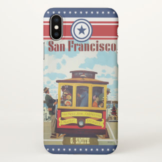 Monogram Series: Vintage America. San Francisco. iPhone X Case