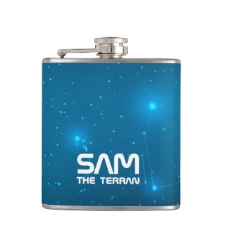 Monogram Series: You The Terran. Funny Gift. Hip Flask