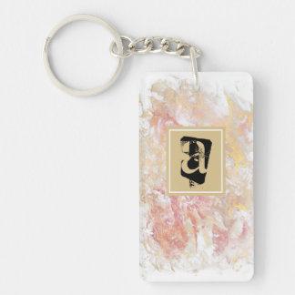 Monogram shiny abstract key ring