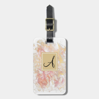 Monogram shiny abstract luggage tag