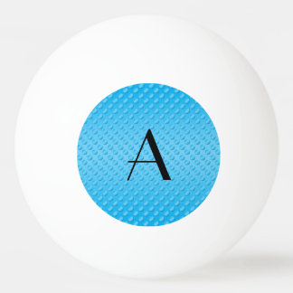 Monogram shiny light blue polka dots ping pong ball