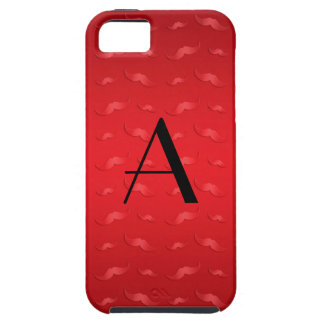 Monogram shiny red mustache pattern iPhone 5 cover
