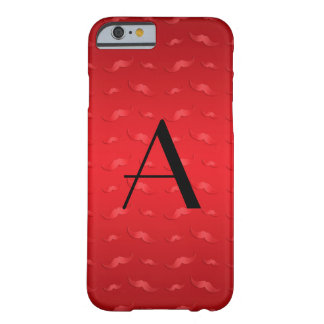 Monogram shiny red mustache pattern barely there iPhone 6 case