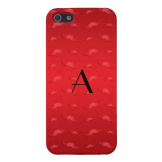 Monogram shiny red mustache pattern iPhone 5/5S covers