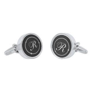 Monogram Silver Finish Cufflinks