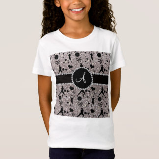 Monogram silver glitter volleyball players T-Shirt