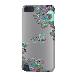 Monogram Silver Metallic Fractal iPod Touch Case