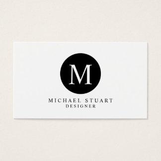 Monogram   Simple Modern Minimalist Custom Color Business Card