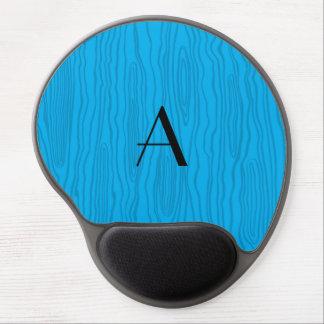 Monogram sky blue faux bois gel mouse pad