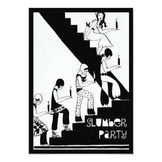 Monogram Slumber Party Vintage Art Deco Card
