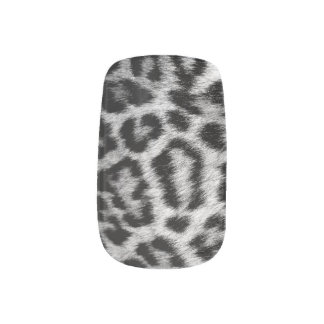 Monogram Snow Leopard Nail Art