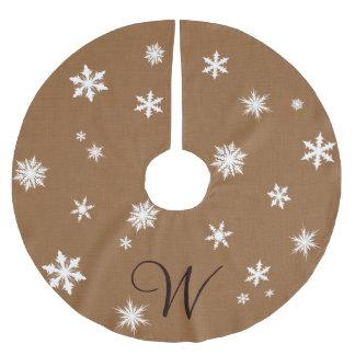 Monogram Snowflake Tree Skirt
