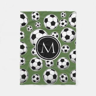 Monogram Soccer - Tree Top Fleece Blanket