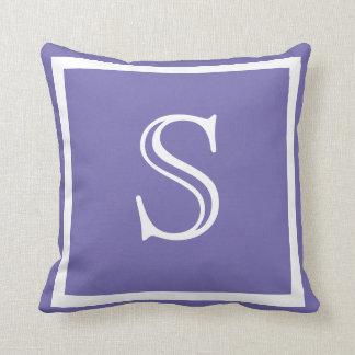 MONOGRAM Solid Purple bright plain pillow