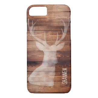Monogram Spray Painted Deer on Wood iPhone Case