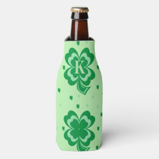 Monogram St Patricks Day Bottle Cooler