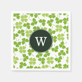 Monogram St. Patrick's Day Party Napkins Disposable Serviettes