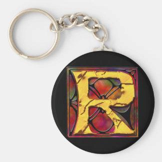 Monogram: Stainglass R Key Ring