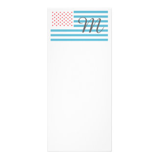 Monogram Stars and Stripes Rack Card