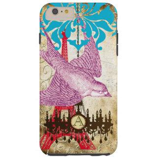 Monogram Steampunk Bird Effiel Tower Chandelier Tough iPhone 6 Plus Case