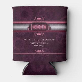 Monogram Steampunked Deco, pink metallic heart