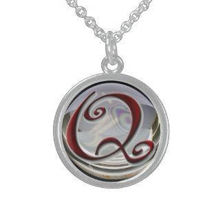Monogram Sterling Silver Necklace