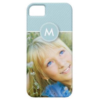 Monogram Stripe Photo Case-Mate Case baby blue iPhone 5 Cover