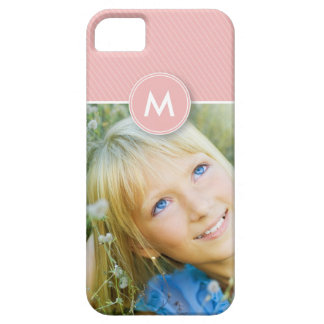 Monogram Stripe Photo Case-Mate Case (baby pink) iPhone 5 Cover