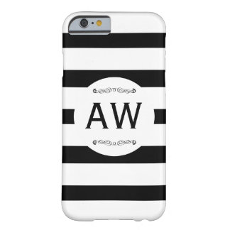 Monogram & Stripes Barely There iPhone 6 Case