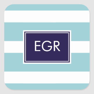 Monogram Stripes Labels / Sticker