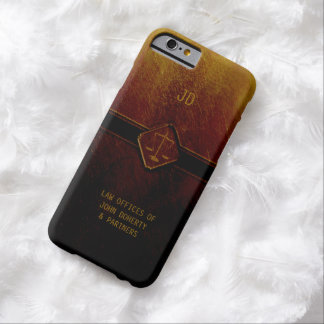 Monogram | Stylish Scales of Justice Barely There iPhone 6 Case