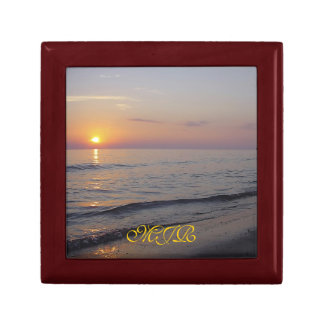 Monogram Sunset Beach Waves, Serene and Peaceful Gift Box