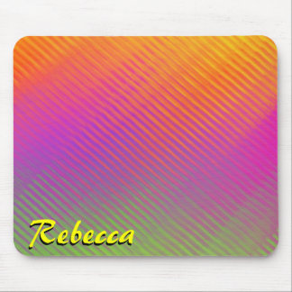 Monogram Sunshine Rainbow Mouse Pad Mousepad