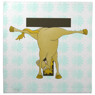 Monogram T Pony Horse Personalised Cloth Napkins